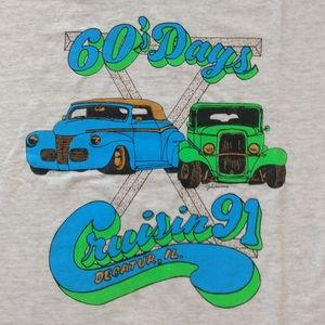 Vintage 60s Days Car Cruise Tee 90s Screen Stars